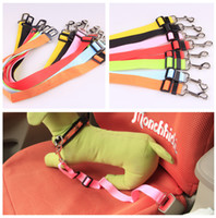 Wholesale Vehicle Dog Pet Cat Safety Seat Belt Strap Car Adjustable Nylon Pet Harness Restraint Lead Travel Clip High Quality and FAST SHIPPING