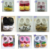 baby slippers pattern - Whole sale Freeshipping Hot sell Slipper Shoes Boots Cute lovely Cartoon Pattern Baby Anti slip Socks baby short socks
