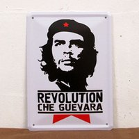 Wholesale Vintage decoration Guevara souvenir wall paiting Bar wall decoration old tin signs
