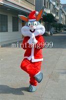 Wholesale ChristmasBugs Bunny mascot Cartoon Doll costume party to celebrate Christmas party