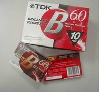 Wholesale Red crown special genuine TDK TDK blank tape cassettes TDK B60 minute audiotape