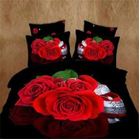Cheap bed linen set 3D printing bedding set FLOWER ROSE Wolf bed clothes 3D wholesale comforter cover bed sheet set pillowcase