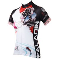 Wholesale PALADIN quot Magnolia Chinese Painting quot Womens Bike Shirt Cycling Clothing Cycling Jersey Bicycle Wear