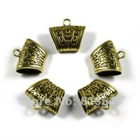 ac jewellery - 12PCS Antique Bronze Color Alloy Jewellery Pendants Scarf Accessories Slide Holding Tube AC B