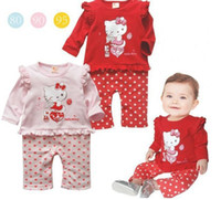 baby boy one piece hello - 2015 autumn new baby clothing baby girl rompers cartoon cotton hello kitty newborn Infants long sleeve one piece jumpsuits A5