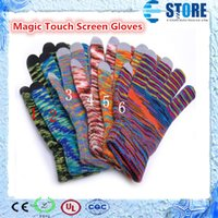 Wholesale Magic Touch Screen Gloves Knit Gloves Autumn Winter Hand Warmer for iphone DHL