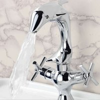 best bathroom faucets - Best Promotion Dolphin Shape Double Handle Bathroom Sink Basin Faucets Chrome Finish Mixer Taps New