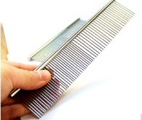 Wholesale Top Quality Stainless Steel Needle Pet Grooming Comb Single Sided Dogs Beauty Comb Cats Hair Brush Comb