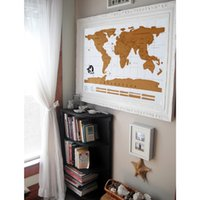 Wholesale Creative Gift Scratch World Travel Ma Decorative Poster Where Have You Been Geography Teaching Fun Toy Best Christmas gift free ship
