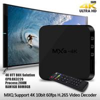 achat en gros de films quad-MXQ 4K Android TV Box RK3229 Quad Core 1G + 8G 4K OTT Boîte HDMI 3D Movie Meilleur MXQ Smart Media Box