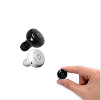 Wholesale Mini Wireless Stereo Bluetooth In Ear Earphone Headphone Headset with Mic Call Button Listen Music for iPhone Samsung HTC