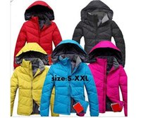 Wholesale 1 Women s Duck Down Hooded Jacket Sport Coat Pro Outdoor face Female Windbreaker Ski Puffer parka
