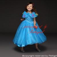 al por mayor vestidos de verano de compras-Pettigirl Retail Cinderella Princesa Dress Girls Party Dresses Nuevo Diseño Especial Collar Verano Niños Costume Drop Compras GD50613-3