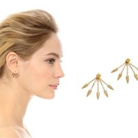 metal claw spikes - fashion accessories Spike Earring Punk Claw Swing Earrings Gold Alloy Metal Stud Earrings for Christmas gift