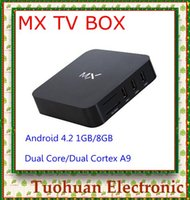 Wholesale 2014 New hot selling XBMC Amlogic MX Google TV Box Gbox GB Ram GB Rom dual Core Full HD Media Player smart Android TV Box