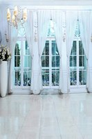 Wholesale 200cm cm ft ft Fundo White Window curtains photography backdrop backgrounds for photo studio