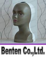 Wholesale Hot Display Head Stand Lightweight Manikin Head Model Wig hair Glasses Hat Female Styrofoam Head with Removable Foam Mannequins LLFA4795F