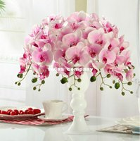 Wholesale Wedding flowers Hi Q Phalaenopsis Artificial flower cm heads silk flower decoration flower for wedding home
