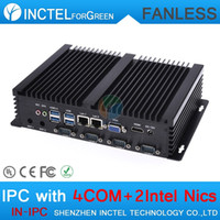 Wholesale IPC fanless mini industrial pc with Intel Celeron u Ghz CPU