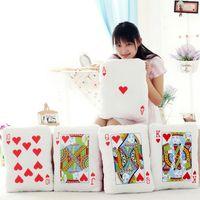 video poker - Poker cards plush toy throw pillow cushion