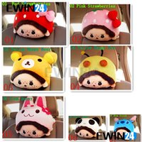 Wholesale New and high quality Monchhichi Soft Nice Cute Cartoon Cushion Headrest Neck Rest Pillow Car Accessories