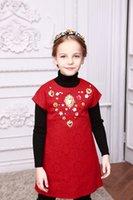 Wholesale Wlmonsoon Winter Girl Dress Fashion Baby Girls Clothes Kids Clothing Girls Clothes Princess Dress Children Formal Designer Dress