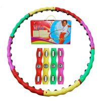 Wholesale Plastic Removable Magnetic Massage Hula Hoop Combined Hula Hoop lose weight classic massage