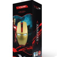 Cheap 2015 new Unique Custom Design Ironman Best Selling Mouse Wired Gaming Optical Mouse with factory price