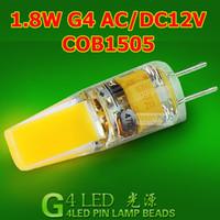 Wholesale 2016 Best Seller G4 G9 COB LED Lamp W W W W AC12v DC12V led spot Lamp Bulb warm pure white
