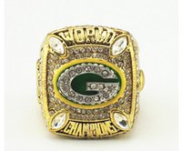 al por mayor anillo de empacadores-Solild Moda Rhodium Plating Ring 2010 Green Bay Packer Campeonato Anillo.