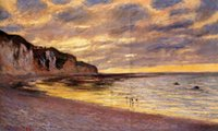 Oil Painting ally quality - Famous artwork Claude Monet oil Painting Reproduction L Ally Point Low Tide Hand painted High quality