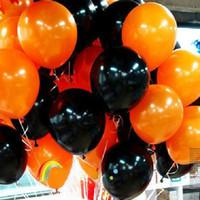 Wholesale Halloween Balloons quot High Quality Orange Black Pumpkin Latex Bolloon Home Decoration Party Birthday Halloween Decorations PQ0034