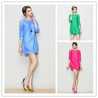 Cheap June's Young S-XXL Large Women Casual Dress 2015 Spring New Top Brand Clothes Sexy Pullover Lady Summer Loose Mini Dresses