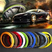 Cheap 2014 New Auto Car Wheel Tire Protection Colorful Bumper strips ABS Resin Rim styling 10 colors Fashion and beauty Free Shipping