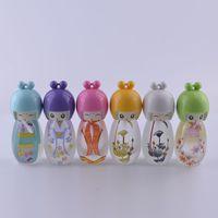 baby perfumes - 100pcs Hot Sale Mini Edition Baby ml Perfume Bottle Lovely Egg Doll Painted Empty Glass Perfume Bottles Spray Refillable Parfu