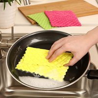 Wholesale 2015 New Cleaner high efficient Bamboo Fiber Cleaning Cloth home bamboo fiber washing dish towel Kitchen wipping rags