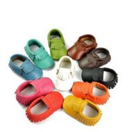 Wholesale 2015 Newest girls baby shoes first walkers moccasins soft sole genuine leather booties antiskid toddlers infants cow leather shoes pairs