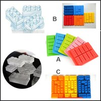bar drink tray - 3 Different Shaped Building Bricks Silicone Ice Cube Tray Candy Chocolate Cake Mold Bar Party frozen Drink For Lego Lovers