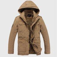 add outerwear - Fall Add Fleece Men Casual Warm Parkas Plus Size M XL Windproof Hooded Outerwear Man Winter Coats
