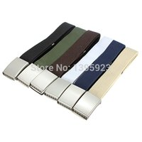 Wholesale New Military Colors Canvas Metal Buckle Belt Waist Waistband Cintos Men Women Unisex Boys Plain Webbing Cotton Accessories