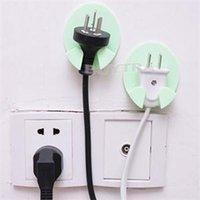 Wholesale 2014 Brand New Plastic Power Plug Holder House Keeping Storage Holders Racks Wall Adhesive Racks