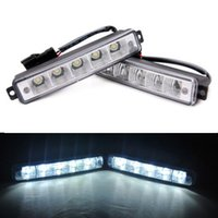 Wholesale Universal X LEDs Waterproof Car Super White Daytime Running Light Fog DRL Car Head Lamp Car Light DRL V W