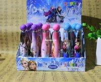 Wholesale Elsa Anna Frozen Ballpoint Pen Kids Study Gift School Study Goods Plastic Promotional Pen