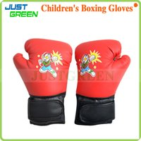 kids boxing gloves - 1 Pair PU Leather Training Punching Sparring Boxing Gloves For Children Kids Boy Girl Students