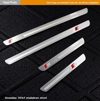 Wholesale STAINLESS STEEL DOOR SILL ENTRY GUARD Scuff PLATE FOR Sline emblem AUDI A4 A4L