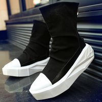 leather soles for shoes - Cool Fashion Suede Platforms Boots Mens Equestrian Roman Boots Personality Rock Shoes Thick Sole Winter Boots Autumn Shoes Zip For Tide Boys