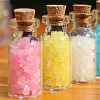 Wholesale 10PCS Fashionable Small Cute Tiny Clear Empty Wishing Glass Bottle Message Vial With Cork Stopper mm mm