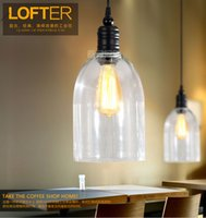 barn light pendant - Vintage Clear Glass Barn Ceiling Lamp E27 Hanging Pendant Light House Indoors Lighting Fixture