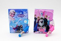 Wholesale 10 cm Frozen Stationery Sets Ballpoint pen Notepad Notebooks Party Gifts mix colors