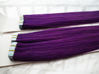 Wholesale New shop best price quot quot grams PU tape hair extensions pack AAA India Remy Purple